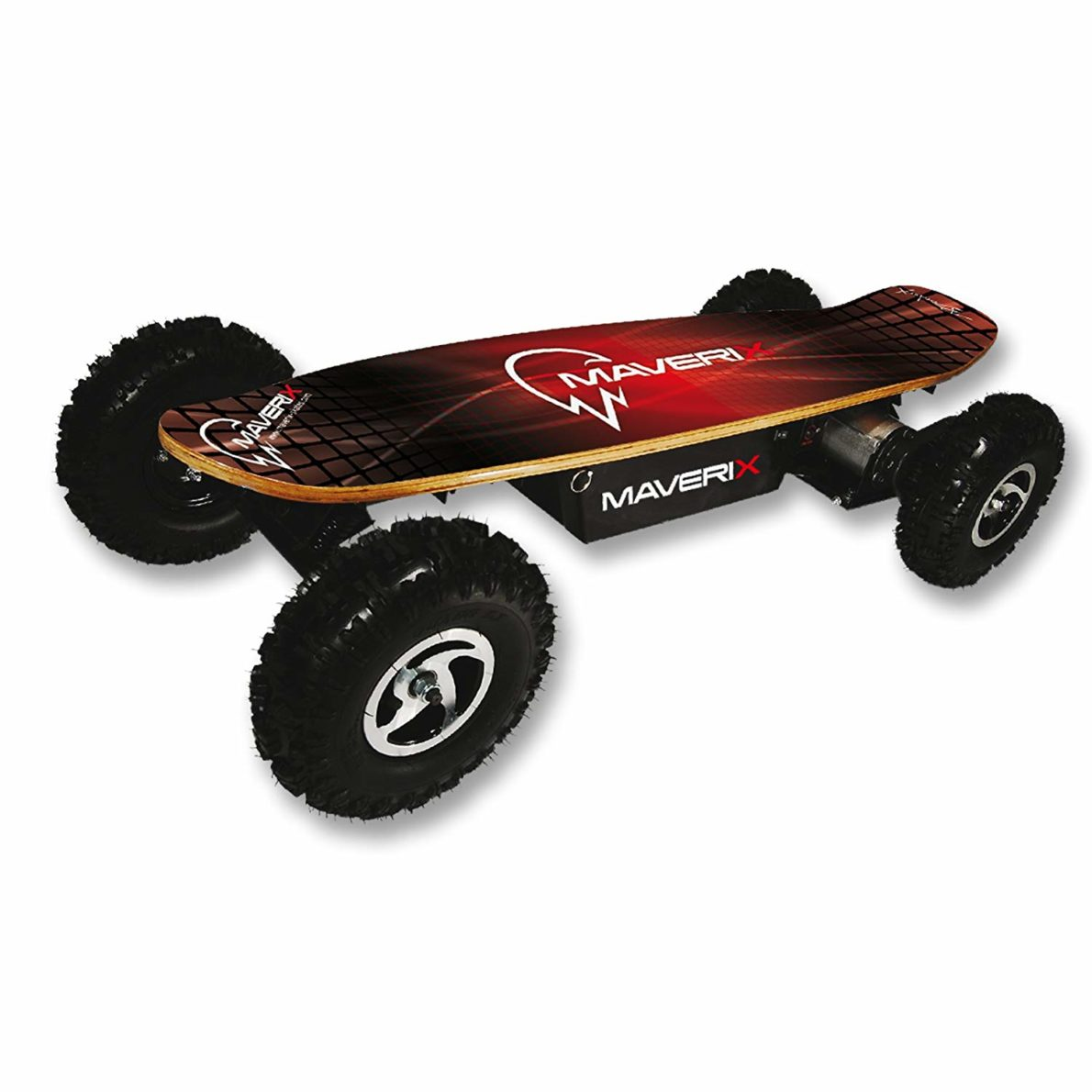 Maverix USA Border X 800W Skateboards, Red, 42-Inch
