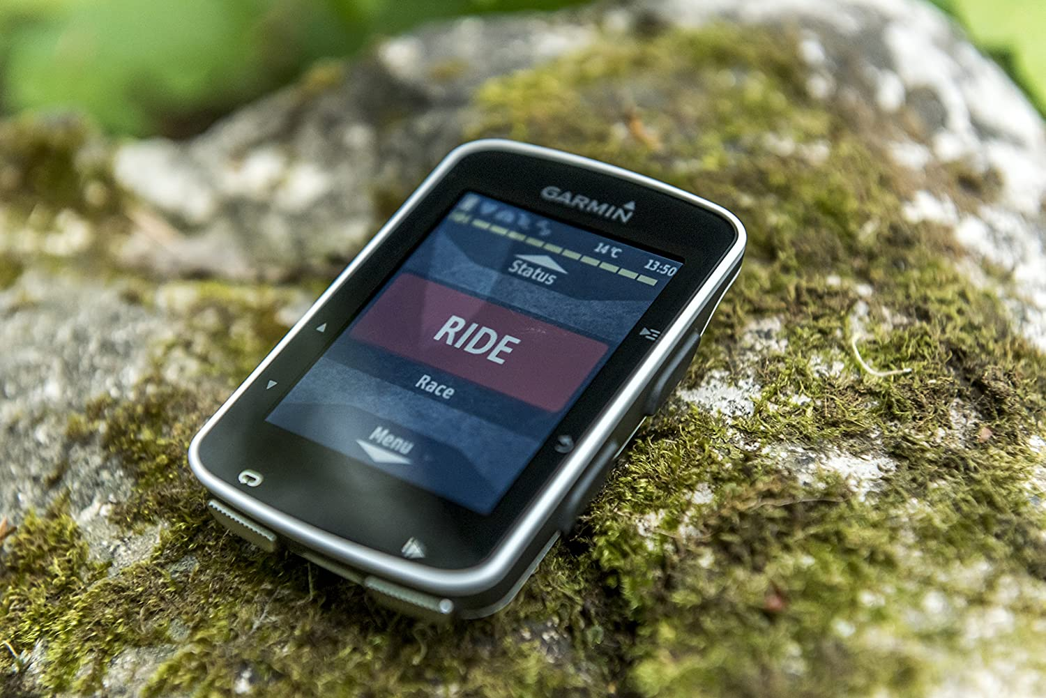 Electric Bike Controller  on a stone in the forest