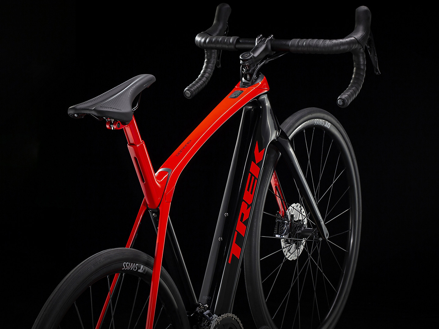 Domane bicycle in the black background