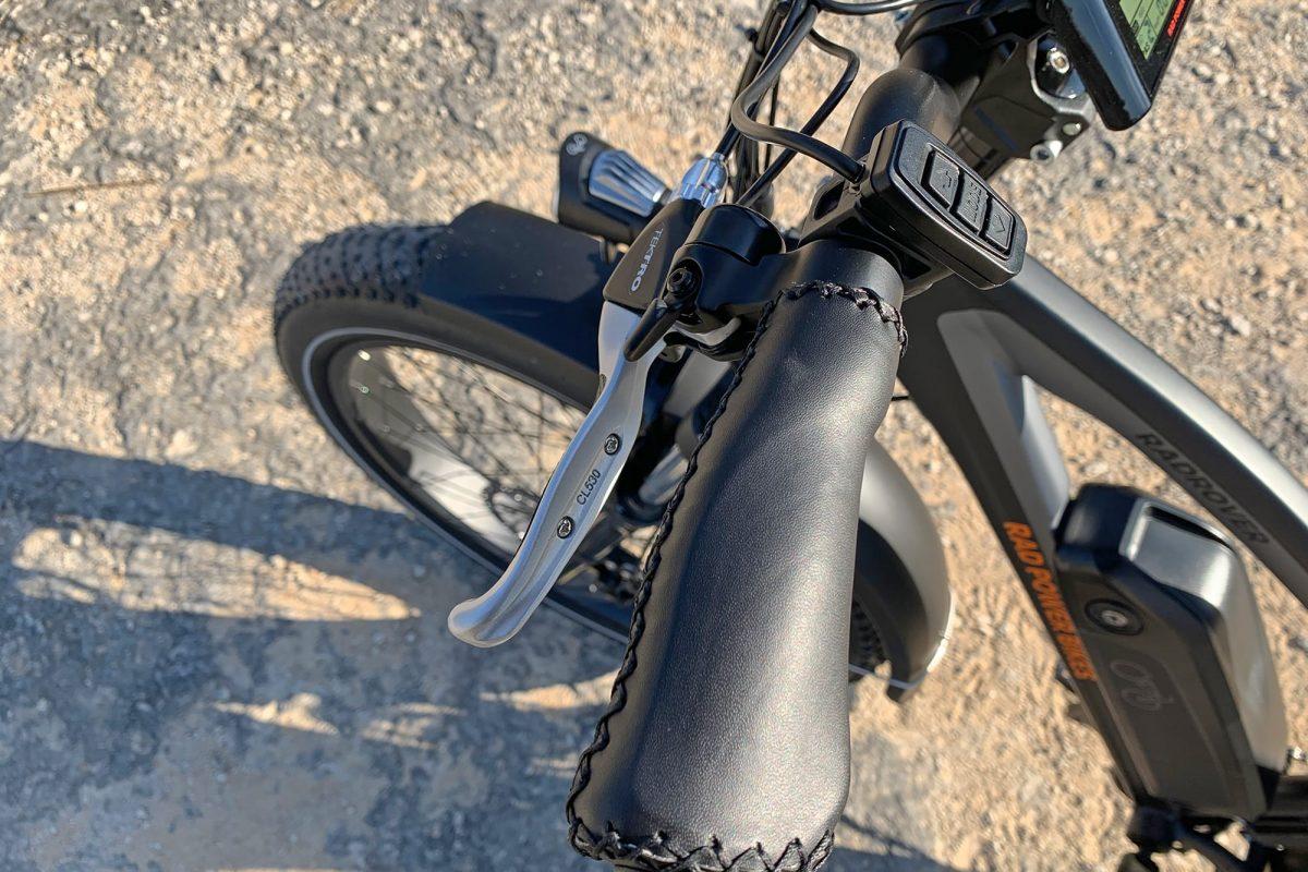 Handlebars of a standing bike
