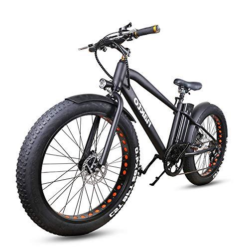 "NAKTO 26"" City Fat Tire Electric Bike 300W"