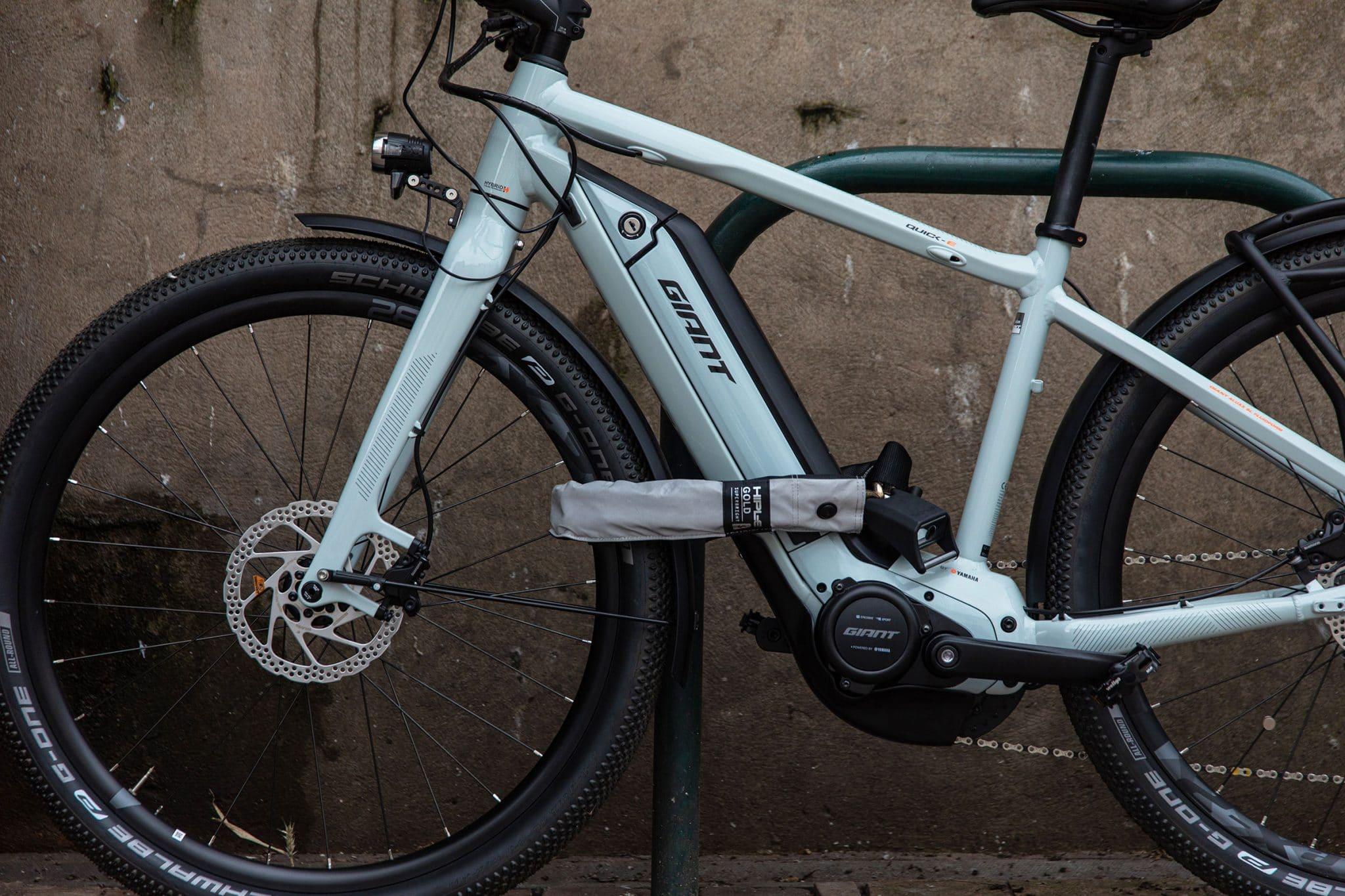 safe locking up an electric bike