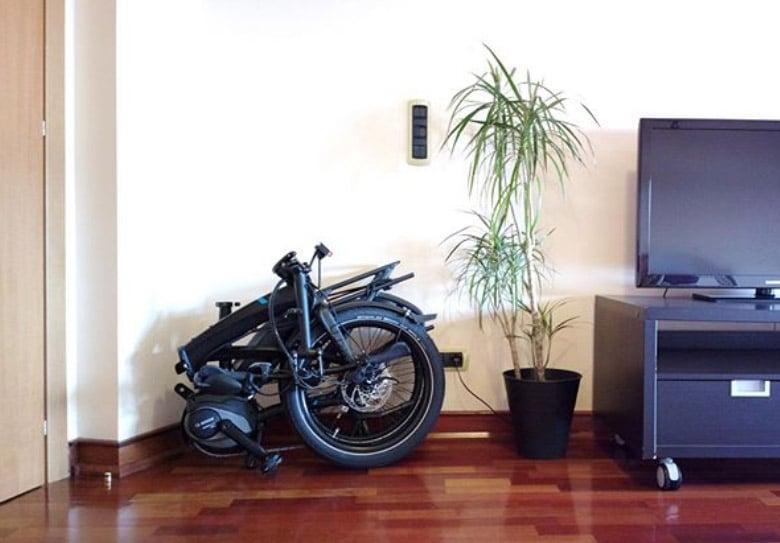 E bike in the apartment