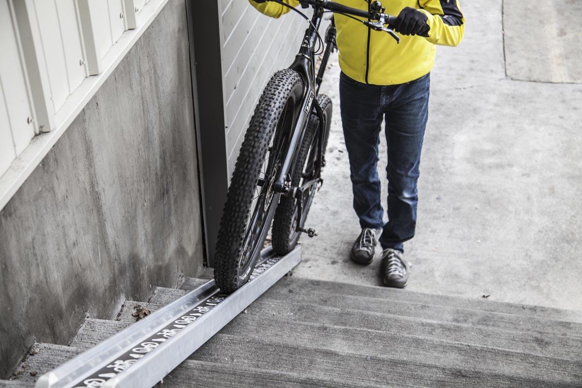 Carrying a tire fat bike